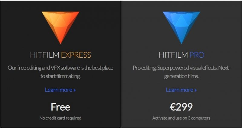 Pricing Hitfilm Express